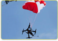 Parachute Drone Safety Rescue Systems